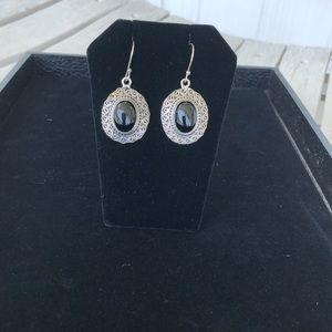 Jewelry - Sterling Silver 925 Onyx Earrings